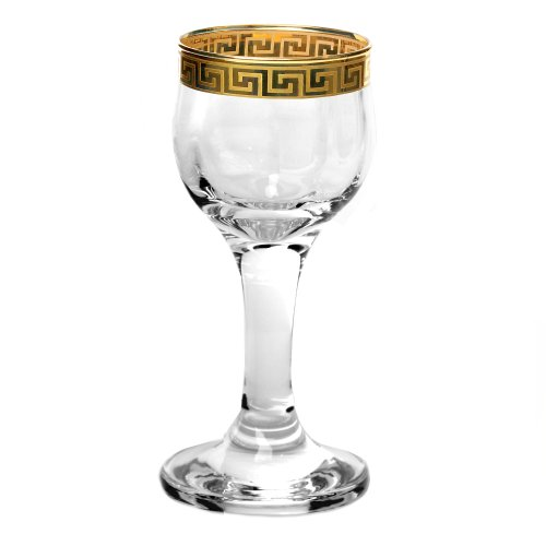 Lorren Home Trends Florence Collection Liquor Goblets, Set of 4
