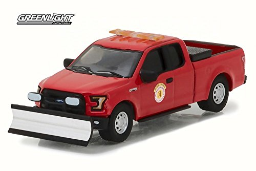 Greenlight 29912 2016 Ford F-150 Pickup Truck Arlington Heights Illinois Public Works with Light Bar and Snow Plow Hobby Exclusive 1/64 Diecast Model - Truck Auto Illinois