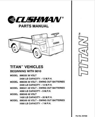 amazon com ezgo 837638 1990 1994 parts manual for cushman titan rh amazon com Textron Golf Cart Wiring Diagram EZ Go Textron Battery Charger