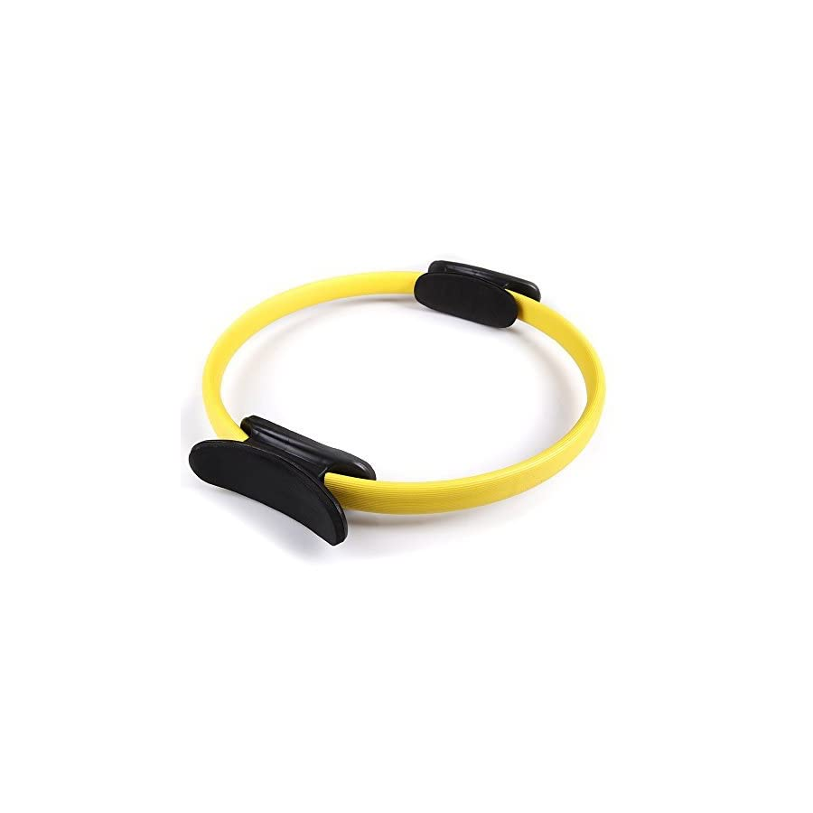 PROMIC Premium Power Resistance Full Body Exercise Fitness Circle, Pilates Ring, Magic Circle, Magic Ring for Flexibility, Strength, Sculpting, Toning (Yellow, 14 inches)