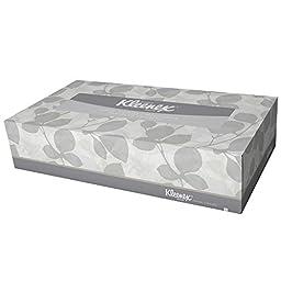 Kleenex Facial Tissue (21400), Flat Tissue Boxes, 36 Boxes / Case, 100 Tissues / Box