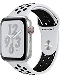 Watch Series 4 (GPS+Cellular) Aluminum Case Unlocked Compatible with iPhone 5s and Above (Nike+ Edition Silver Aluminum Case with Pure Platinum/Black Nike+ Sport Band, 44mm)