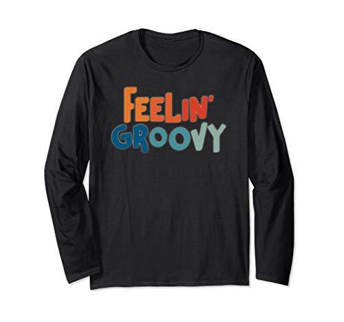 Feeling Groovy Hippie Trippy 70s 80s Vintage Retro Gift Long Sleeve T-Shirt