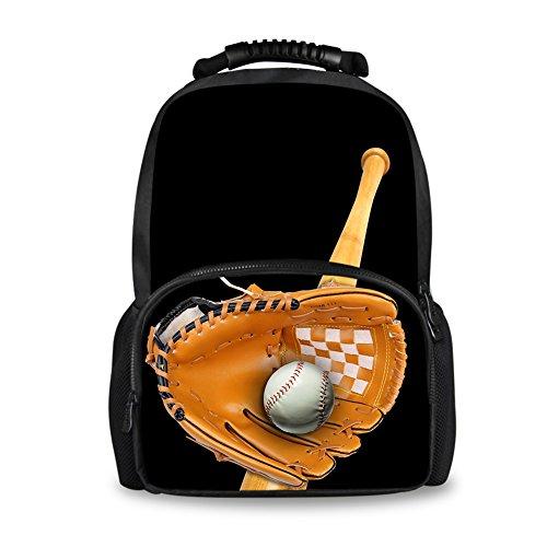 Coloranimal Lightweight Travel Hiking Backpack for Men Cool Baseball Daypack