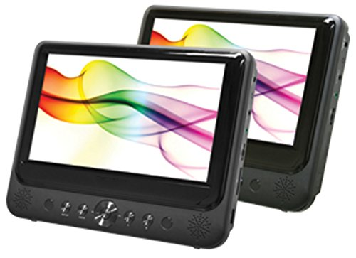 9 dual screen portable dvd player - 3