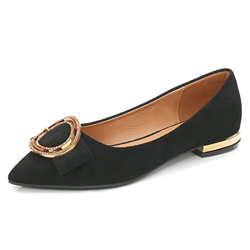 Klassieke Casual Loafers Voor Dames - Mocassins Met Zachte Slip Op Schoenen 1123-3 Zwart