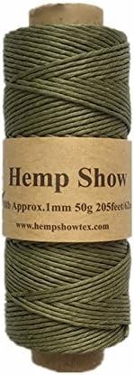 Black Hempshow-100/% Hemp Twine-1mm-50g-230feet
