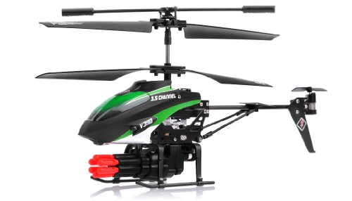 SkyCo 3.5 Channel Missile Shooting RC Helicopter RTF with Six Missiles rapid fire (Colors May vary)