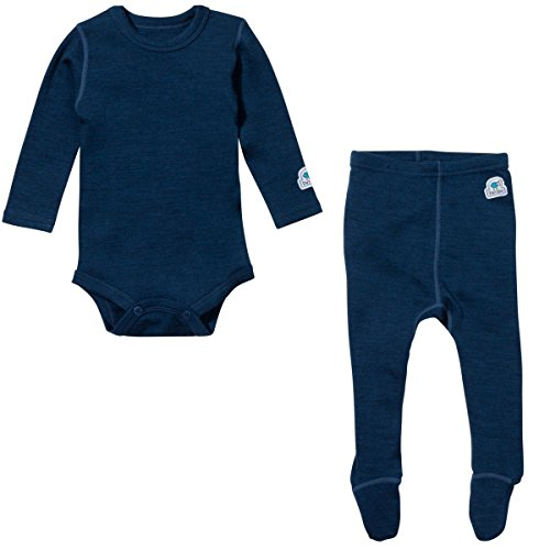 Ultrasoft Merino Baby Base Layer Set 9-12M(Navy Blue) (Baby Merino Wool)