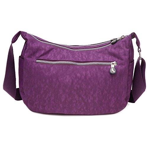 scuola sport Borse borse per casual tracolla leggero borse viola borsa a tracolla impermeabile la donna piccola a moda qxqArz4Z