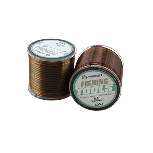 Geelife 547 Yard Fishing Line Fluorocarbon Resin Treatment Raw Materials Nylon From Japan Abrasion Braid Fishing Line (Waxy Pull)