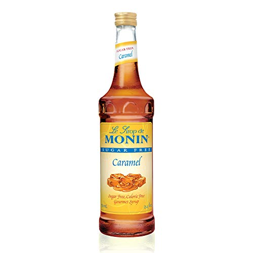 Carb Caramel - Monin - Sugar Free Caramel Syrup, Mild and Sweet, Great for Coffee and Desserts, Gluten-Free, Vegan, Non-GMO (750 ml)