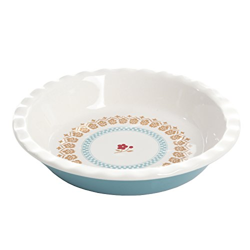 (Gibson Home 102351.01RM General Store Hollydale 10 Inch Scalloped Pie Dish, White)