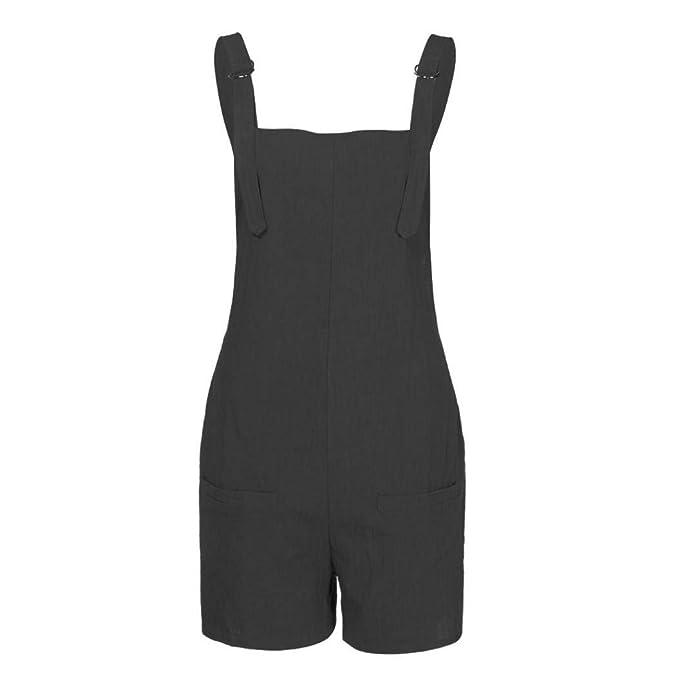 84bc3ce276c3 AiBarle - Mono para Mujer y niña, Pantalones Cortos de Verano con ...