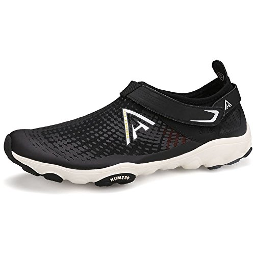 Sports Athletic Walking Beach Women Mesh Sneakers Men for Water Shoes Sunjcs Black Shoes Lightweight Unisex Aqua AYqawn4nv
