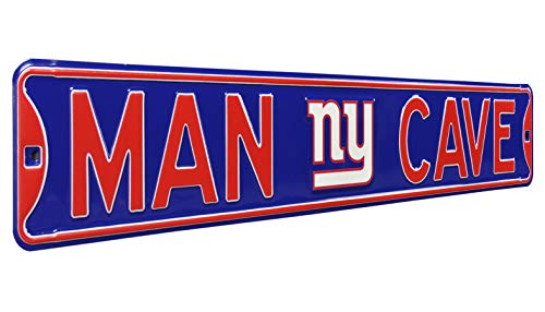 - Fremont Die 35089 NFL New York Giants Man Cave, Heavy Duty, Steel Street Sign, 36