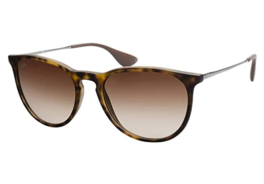 a0c2022809 Ray-Ban RB4171 ERICA Unisex Gradient Aviator Sunglasses (Rubber Havana  Frame