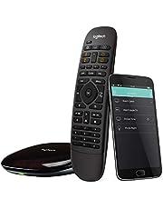 Logitech Harmony Companion - Mando a distancia todo en uno para dispositivos de hogar inteligente y multimedia, Hub y aplicación, Negro