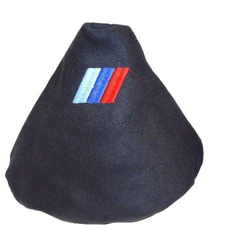 Soufflet de levier en daim Noir à broder M3/// The Tuning-Shop Ltd