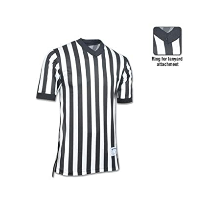 03abcf5ea Amazon.com   New Champro Basketball Referee Official Dri-Gear Black White Jersey  Shirt XS-3XL (AXL)   Sports   Outdoors