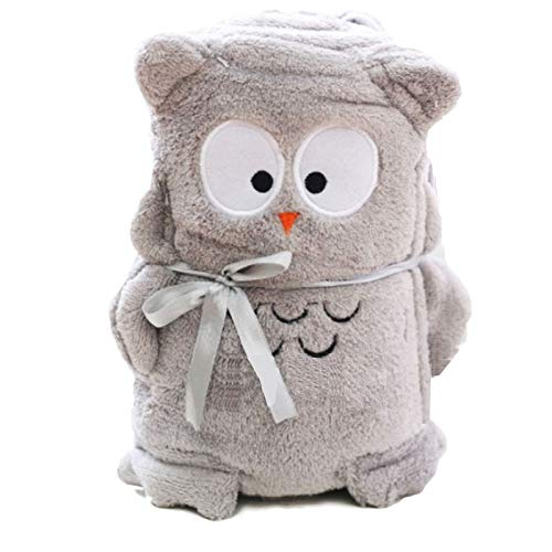 CW Premium Multi purpose cute animal theme Baby Blanket - Nursing, Cuddle, Comforter, Playmat, Bath Towel baby shower gift - Super soft fleece, unisex (Owl) (Owl Towels Bath)