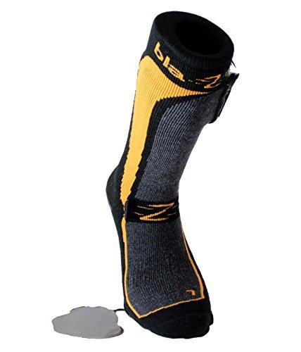 Blazewear Calcetines Calentables con baterías 3,7V Li-Po recargables con tres niveles de temperatura y cargador: Amazon.es: Deportes y aire libre