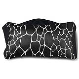 Facial Yoga Reflexology - Satin Eye Pillow Cover Abstract Black Animal Print Skin Fur Washable Removable Cover Sleep Eyes Mask Pillow