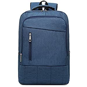 CHENDX Handbags Fashion Men and Women Couple School Bag Oxford Cloth Casual Retro Outdoor Travel Backpack High Capacity Bag Briefcase (Color : Blue, Size : 42cm*29cm*12cm)