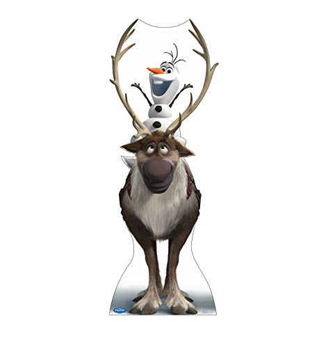 Advanced Graphics Sven & Olaf Life Size Cardboard Cutout Standup - Disney's Frozen (2013 Film) -