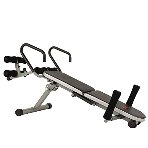 Sunny Health Fitness Invert Extend N Go Back Stretcher Bench For Back Pain Relief Decompression Therapy