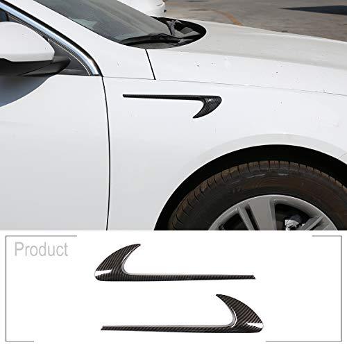 ShengTong 2pcs ABS Chrome Car Side Fender Trim for Mercedes Benz E Class W213 C-Class W205 Refit E63S AMG Accessories (Carbon Fiber)