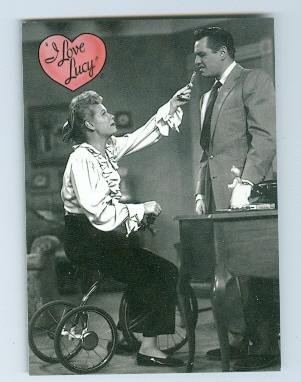 Lucille Ball Desi Arnaz trading card I Love Lucy 2001 Dart #6 Fakes Illness Bicycle
