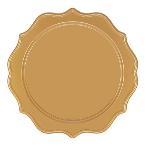 Majestic Durable Plastic Dinner Plate - 12-Pack of 10