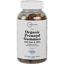 PREMAMA - Organic Vegan Prenatal Gummies with Iron - Vegan DHA, Folic Acid, Choline and Iron - Gluten Free and Kosher - 112 Gummies