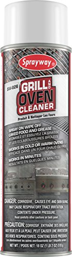 Sprayway SW826 Oven and Grill Cleaner, 18 oz by Sprayway