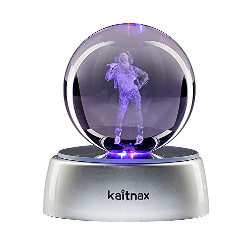 kaitnax 3D Laser Etched Crystal Ball(50mm) Puzzle with LED Base (Harley Quinn)