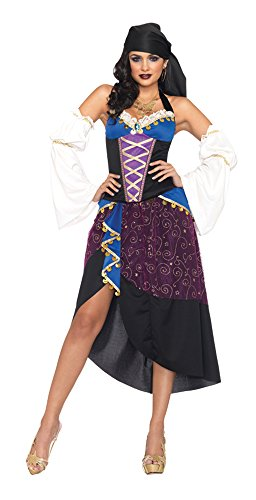 GTH Women's Historic Sexy Tarot Card Gypsy Theme Party Fancy Costume, S (4-6) (Sexy Disney Villains)