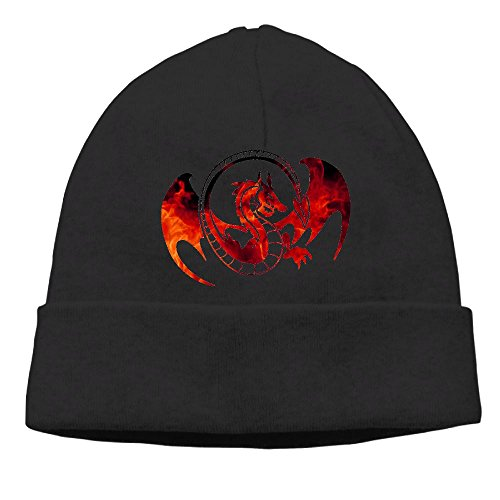 Dragon Knit Beanie (Funny Dragon Mens Autumn and Winter Knit Cap)