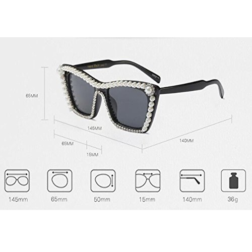 Mujer C4a Super de Brillante Moda Gafas Hzjundasi Negro Cat Vintage Triangle Eye Chic Gris Mod sol Retro Eyewear vRx6q1