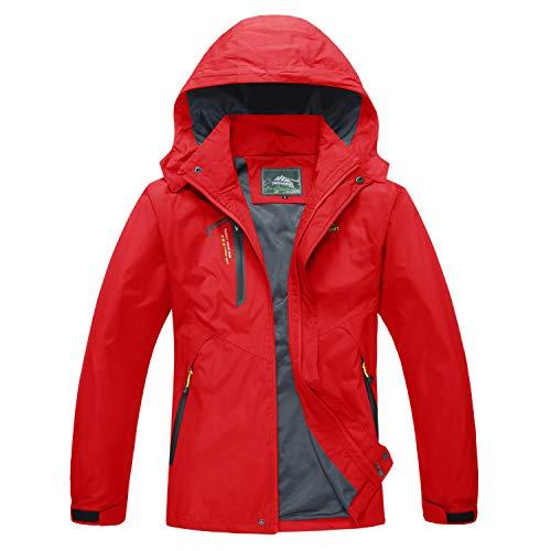 MAGCOMSEN Men's Outdoor Jacket 4 Pockets Hooded Windproof Jacket Waterproof Rain Coat