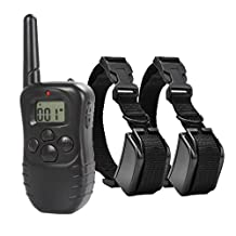 Dog Training Collar Waterproof Remote and Rechargeable with Beep/Vibration/Shock For Two Dogs