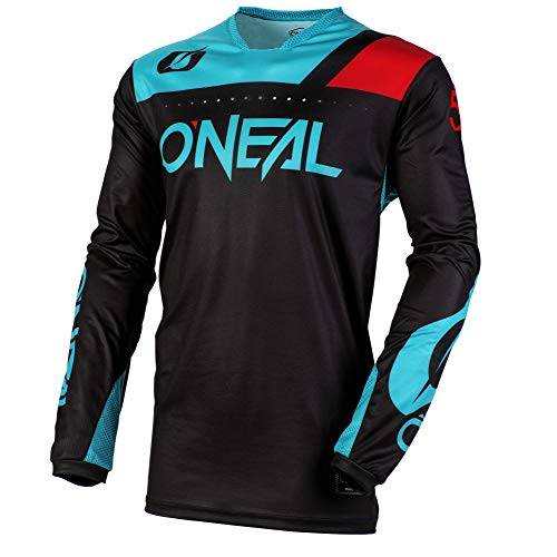 - O'Neal Unisex-Adult Jersey (Black/Teal, S)