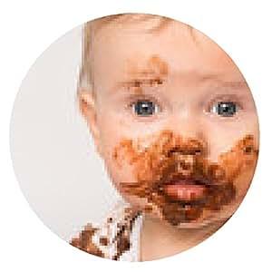 alfombrilla de ratón untado con el chocolate Little Baby - ronda - 20cm