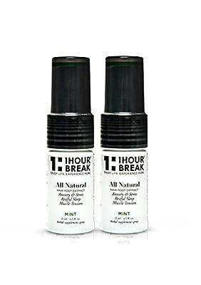 1Hour Break® Version 2.0, Mint, (2-Pack / 30 Servings) Kava Extract Herbal Blend