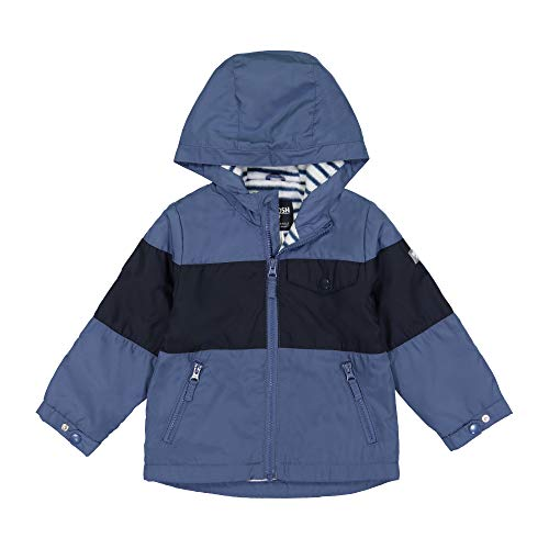 OshKosh B'Gosh Baby Boys Midweight Jersey Lined Jacket, Blue Black Color Block, 12 Months
