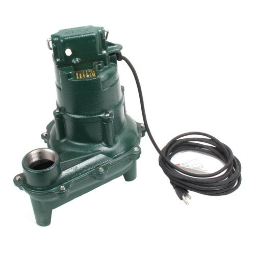 Model N264 Waste-Mate Non-Automatic Cast Iron Sewage Pump - 115 V, 0.4 HP