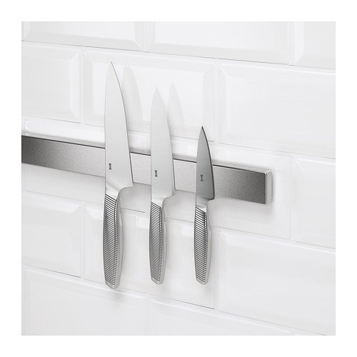Ikea New Magnetic knife rack, stainless steel 22 ''
