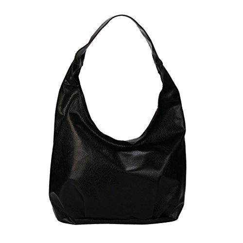 Black Leather Lace Hobo - Women Love Bags,Fashion Womens Shoulder Bag Special Design You May Like Crossbody Handbag (Black)