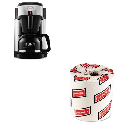 KITBUNNHSBWK6180 - Value Kit - Bunn Coffee 10-Cup Professional Home Coffee Brewer (BUNNHS) and White 2-Ply Toilet Tissue, 4.5quot; x 3quot; Sheet Size (BWK6180) by Unknown