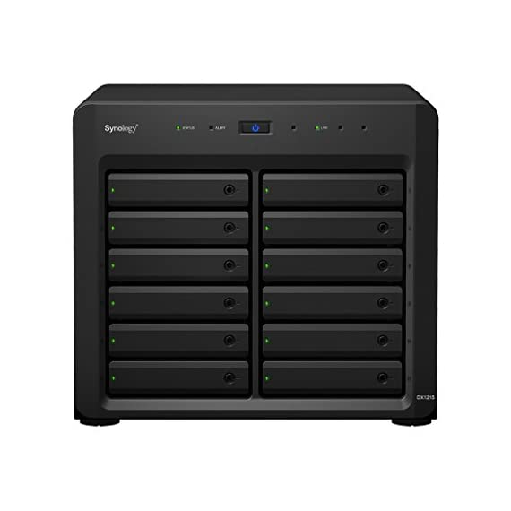 Synology 12bay Expansion Unit DX1215 (Diskless) 2 Plug-and-Use design for seamless storage space upgrade Online volume expansion SATA III 6Gb/s interface support